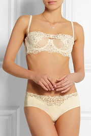Petit Macrame lace and tulle underwired bra