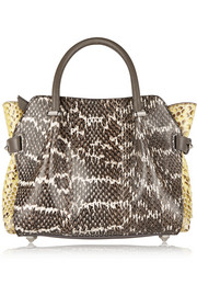 Nina Ricci Le Marché medium python and elaphe tote