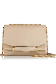Marché Chaine leather and suede shoulder bag