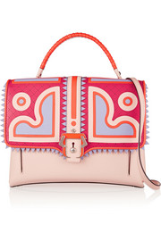Paula Cademartori Faye appliquéd leather shoulder bag