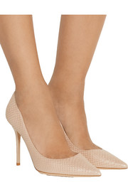 Jimmy Choo Abel snake-effect leather pumps