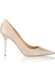 Abel snake-effect leather pumps