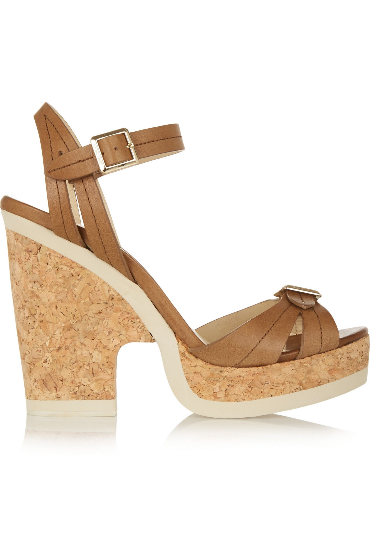 Jimmy Choo Nemisis leather platform sandals