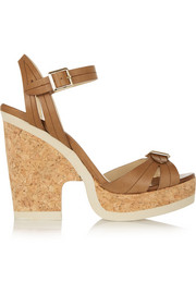 Jimmy Choo Nemisis leather platform sandals