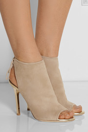 Froze suede peep-toe ankle boots