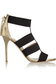 Jimmy Choo Dario elastic and mirrored-leather sandals