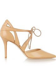 Lusion leather pumps