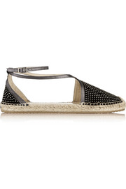Jimmy Choo Donna studded suede espadrilles