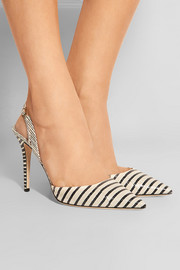 Tarida striped elaphe pumps