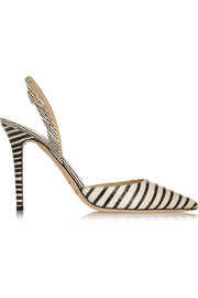 Jimmy Choo Tarida striped elaphe pumps
