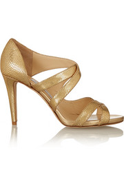 Jimmy Choo Valance snake-effect leather sandals