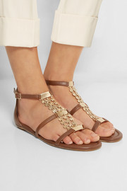 Wyatt embellished leather sandals