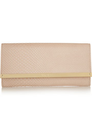 Jimmy Choo Milla snake-effect leather clutch