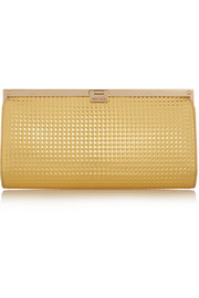 Camille embossed metallic leather clutch