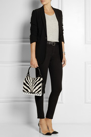 Jimmy Choo Amie zebra-print calf hair and leather tote