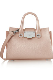 Riley metallic textured-leather shoulder bag