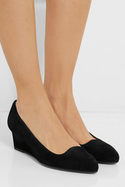 Tod's Suede wedge pumps
