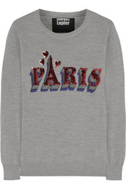 Paris sequined merino wool sweater