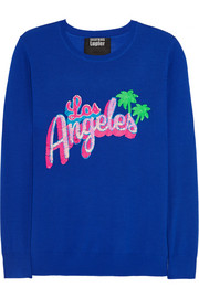 Los Angeles sequined merino wool sweater