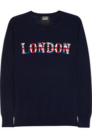 London sequined merino wool sweater
