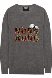 Hong Kong sequined merino wool sweater