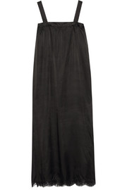 MM6 Maison Martin Margiela Lace-trimmed satin midi dress