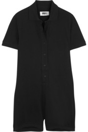 Cotton-piqué playsuit