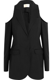 Christopher Kane Cutout wool-crepe blazer