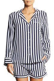 Equipment Lilian striped washed-silk pajama set