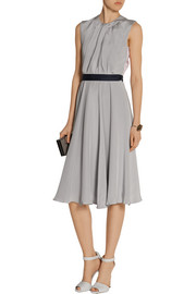Roksanda Ilincic Sessler color-block pleated silk-crepe dress