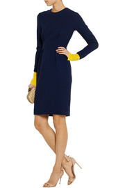 Roksanda Ilincic Izumi color-block wool and silk-blend dress