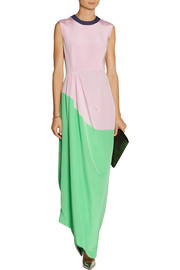 Roksanda Ilincic Color-block cotton-blend crepe gown