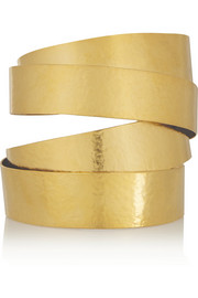 Hammered gold-plated cuff