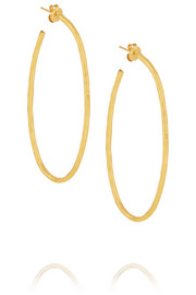 Hervé Van der Straeten Hammered gold-plated earrings