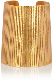Textured gold-plated cuff