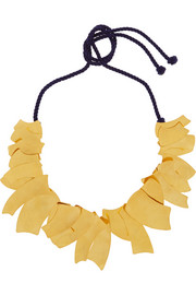 Hervé Van der Straeten Hammered gold-plated necklace