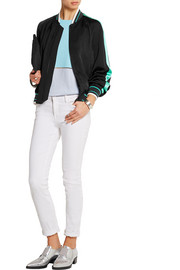 Christina satin bomber jacket