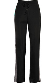 Sofia striped silk pants