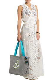 Lupita crochet-paneled cotton-lace dress