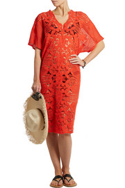 Kate crochet-paneled cotton-lace dress