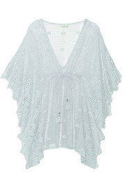 Petra crocheted cotton kaftan