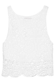 Rosi cropped crocheted cotton top