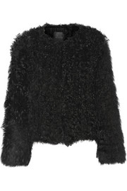 Knitted shearling jacket