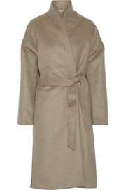 Chelsea wool-blend felt wrap coat