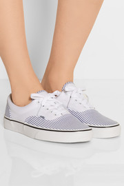 Era striped cotton-canvas sneakers