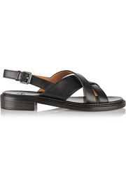 Maria leather slingback sandals