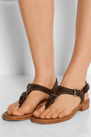 Maud perforated leather sandals