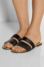 NewbarK Roma III leather and calf hair sandals