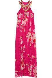 Escape floral-print silk maxi dress
