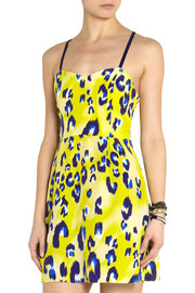 Matthew Williamson Escape leopard-print silk mini dress
